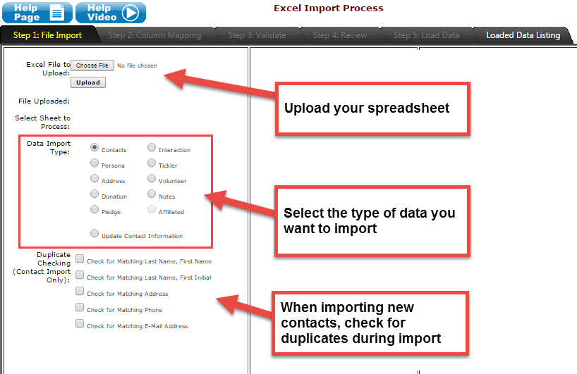 Excel Import: Upload your spreadsheet